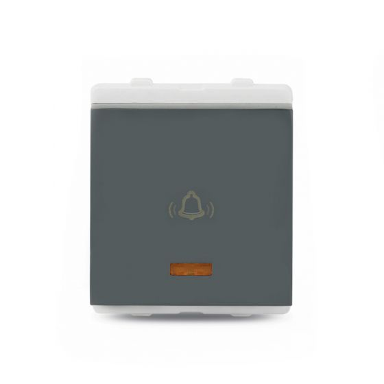 10A_2_Module_Bell_Push_With_Indicator_Dark Grey