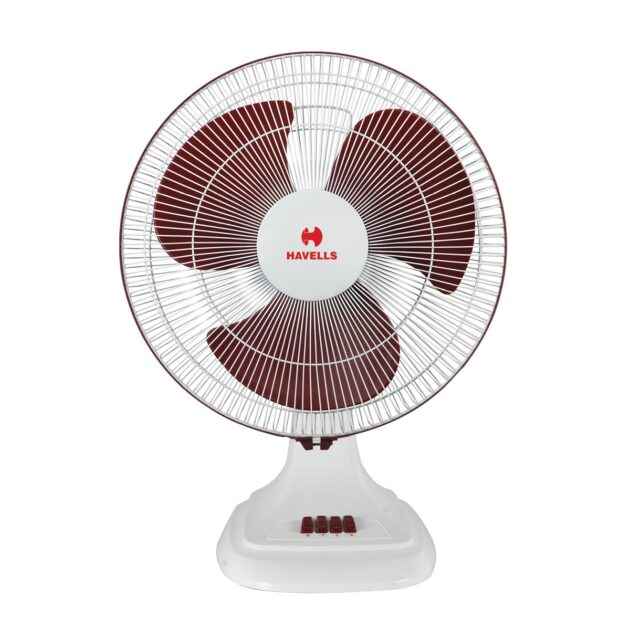 Havells Accelero HS 400 mm sweep White Red table Fan