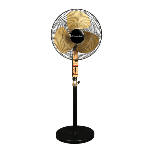 crompton_SDX_black_gold_pedestal_fan